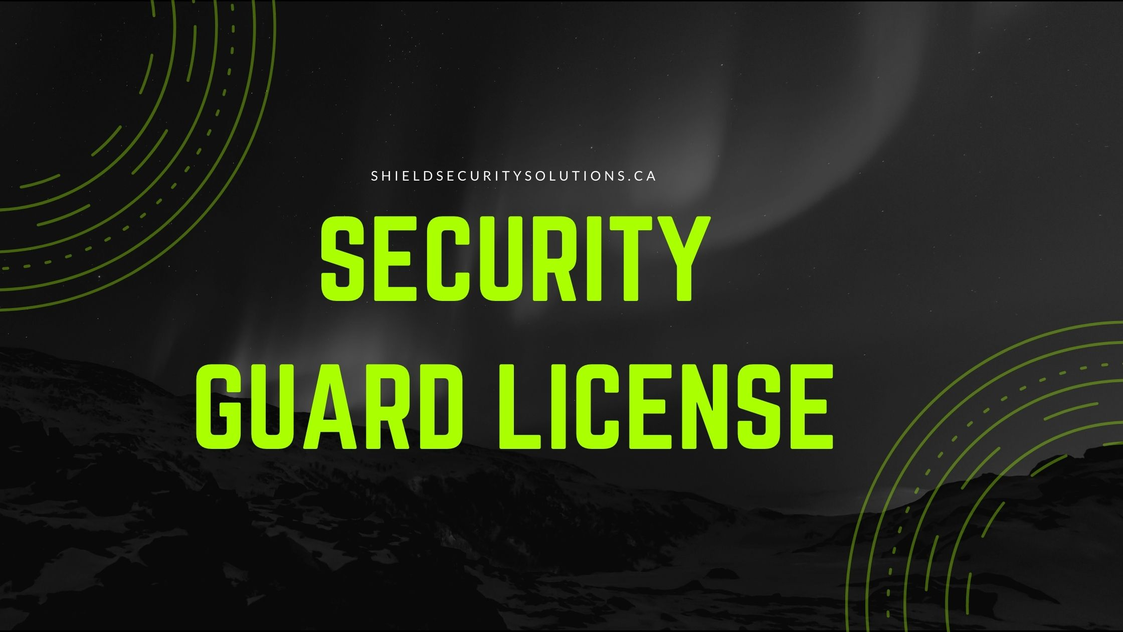 Obtaining a Security Guard License